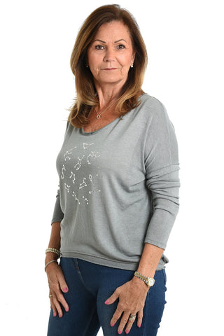 Ladies grey v-neck jumper Nantwich Cheshire