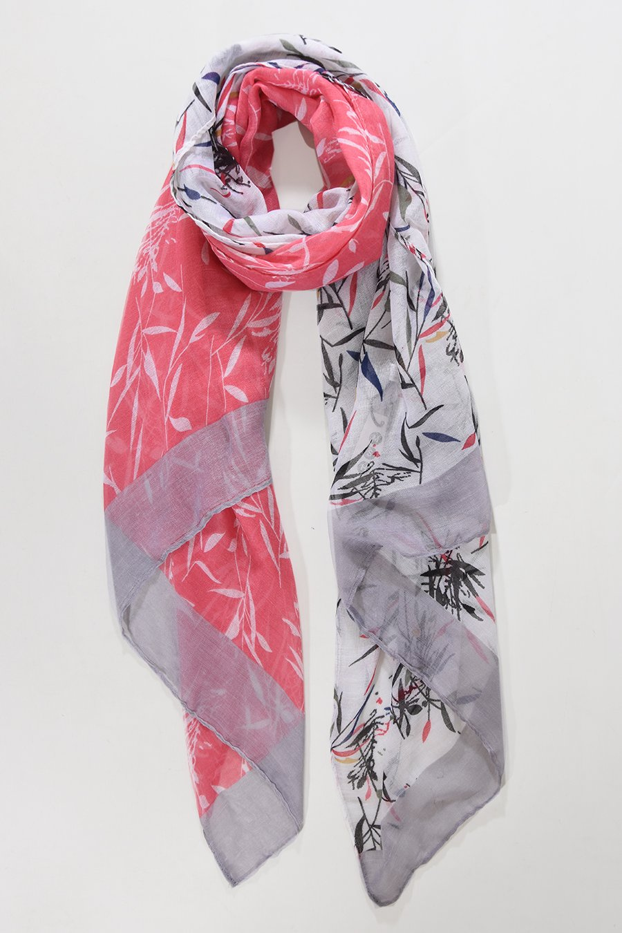 Women's coral watercolour scarf