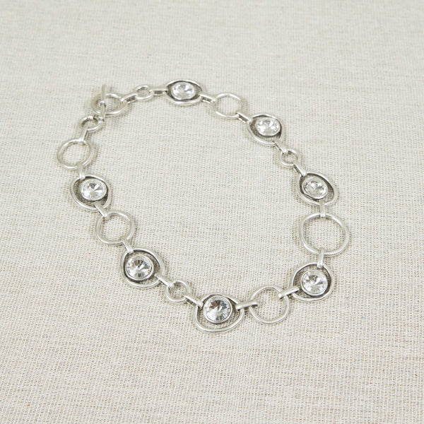 Silver necklace with clear crystals Nantwich Cheshire