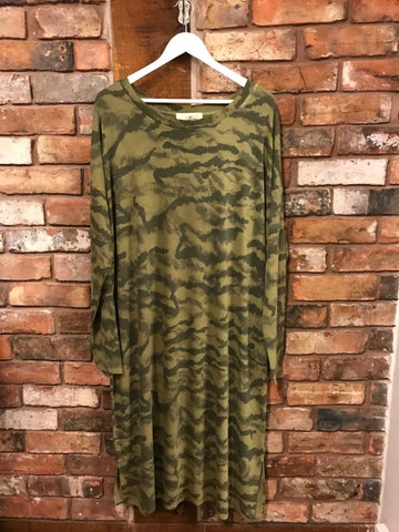 Camouflage long sleeve dress A Postcard from Brighton Nantwich