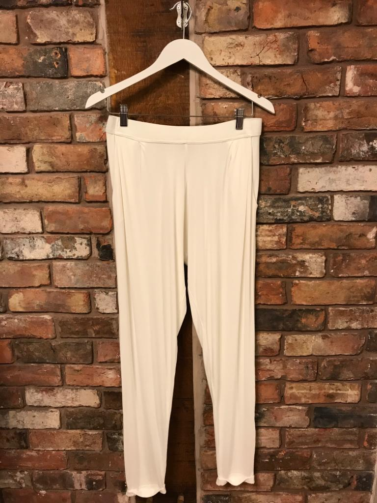 Lightweight jersey joggers in white
