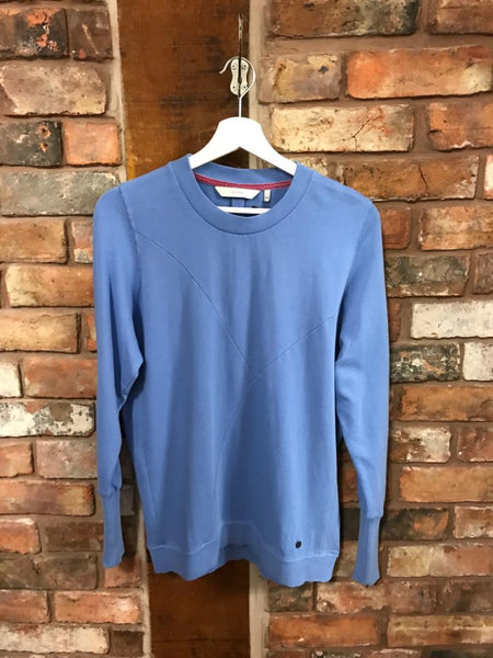 Sweater Sweatshirt in ultramarine blue. Jumper by Numph at women's clothes shop Nantwich