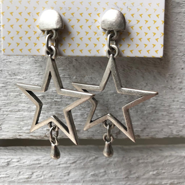 Silver star earrings Nantwich Cheshire