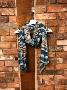Nomads large teal scarf or sarong