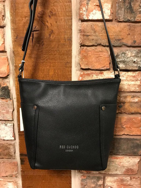Black shoulder bag faux leather