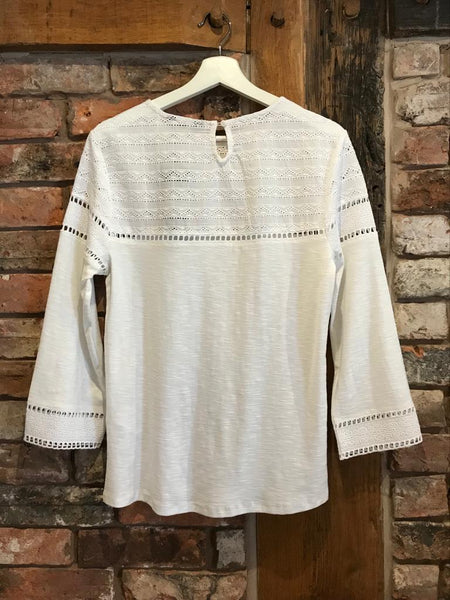 White lace top blouse 3/4 sleeve Nantwich clothes shops