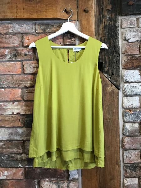 Lime green ladies vest top
