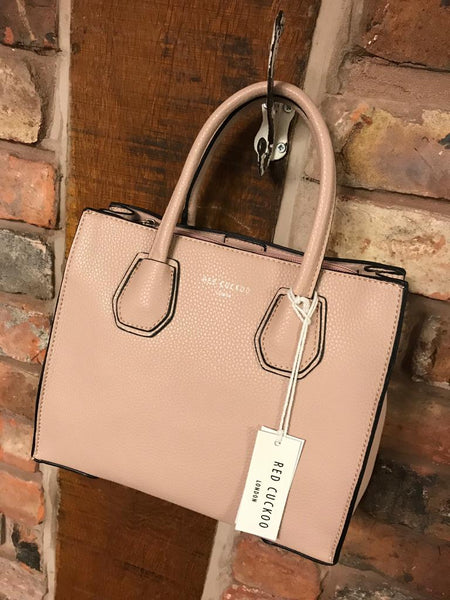 Faux leather pink bag