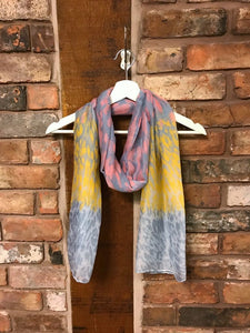 Multi coloured animal print scarf