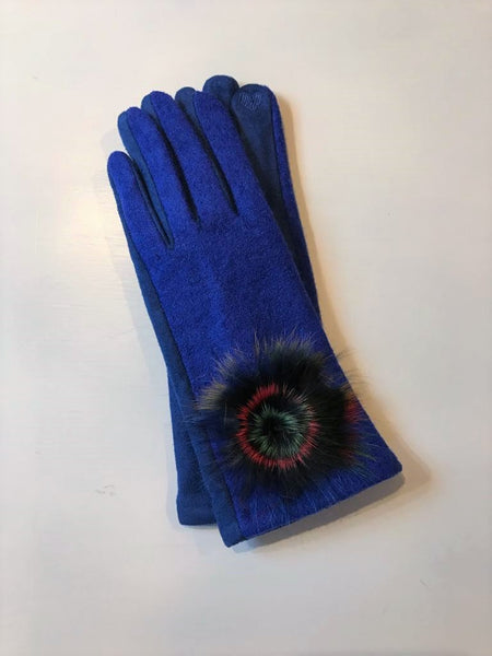 Royal blue women's gloves Nantwich Cheshire