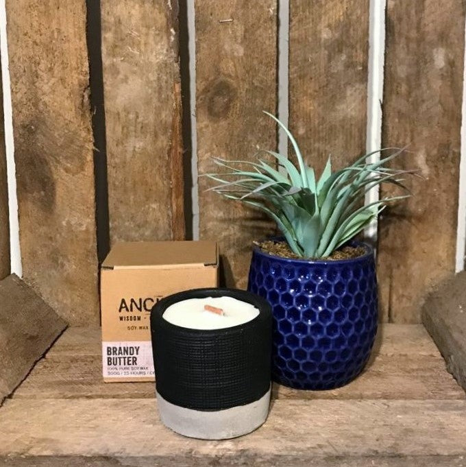 Brandy Butter Scented Concrete Candle