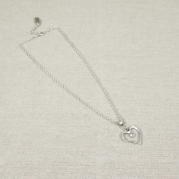 Silver heart necklace Nantwich