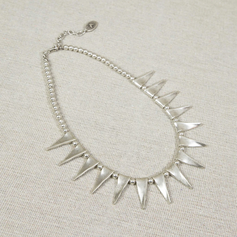Silver spike Necklace Nantwich Cheshire