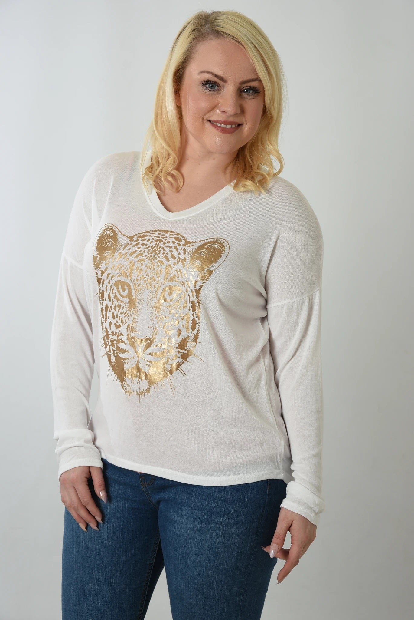 Gold leopard sweater