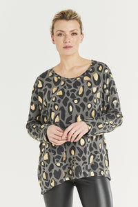 A Postcard from Brighton Gwen Animal Print Top