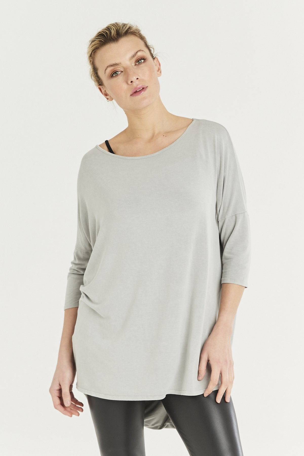 A Postcard from Brighton ash grey Saffi top