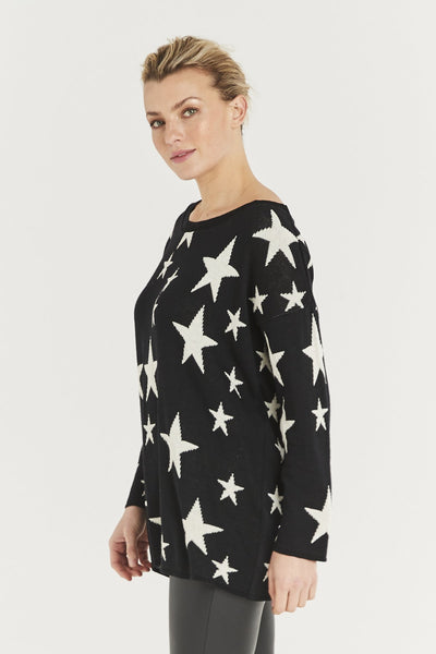 Black and cream star jumper Nantwich Cheshire