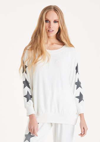 A Postcard from Brighton star sleeve sweater Made in Britain - available at Sleek Boutique - ladies clothing shop, Nantwich, Cheshire