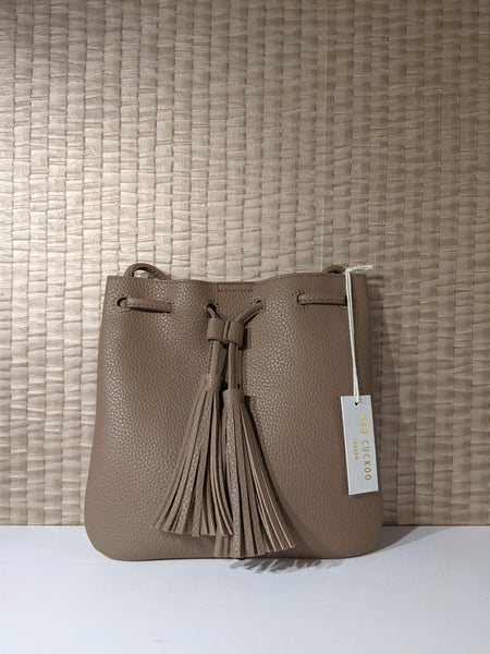 Brown cross body bag faux leather