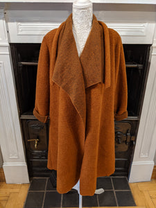 Ladies burnt orange rust coat