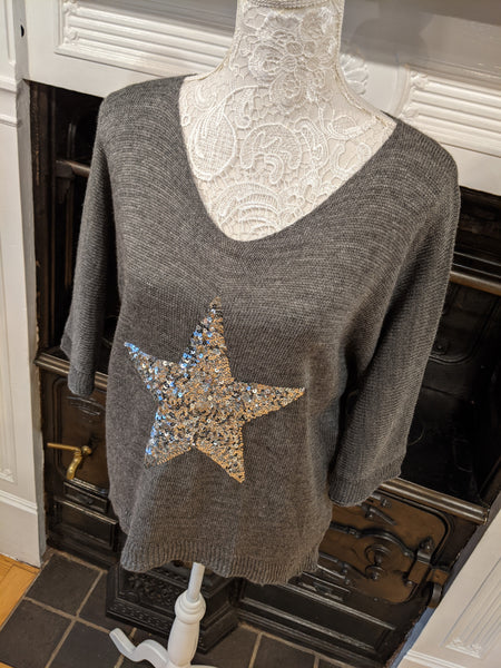Grey star jumper Nantwich Cheshire