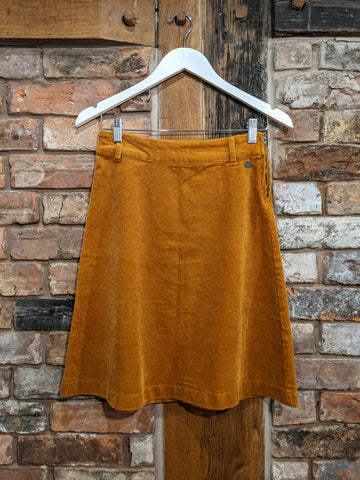 Tan brown corduroy skirt