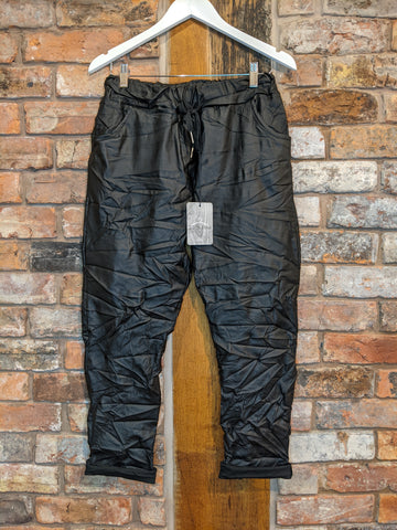 Faux leather magic trousers