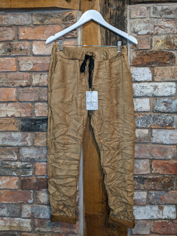 Faux suede tan magic trousers