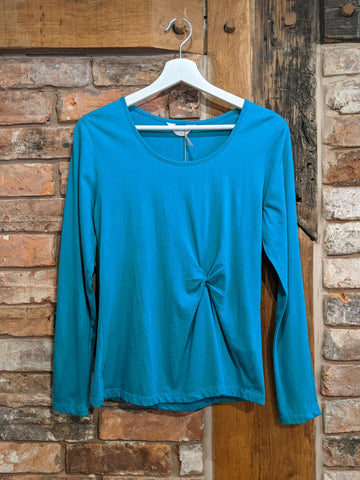 Organic cotton teal blue top