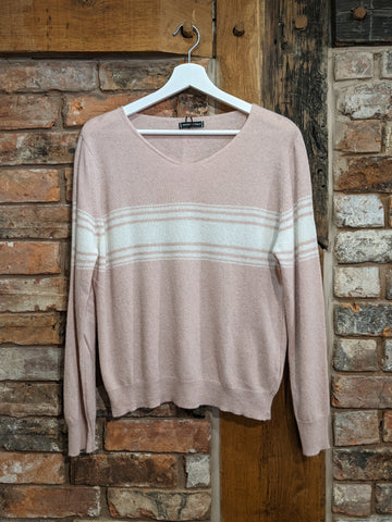 Ladies pink cashmere jumper