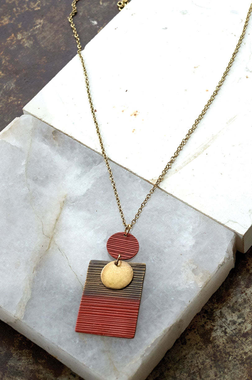Orissa Amber Pendant Necklace