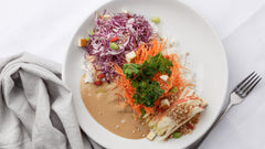 Vegan Rice Noodle with Cashew Sauce