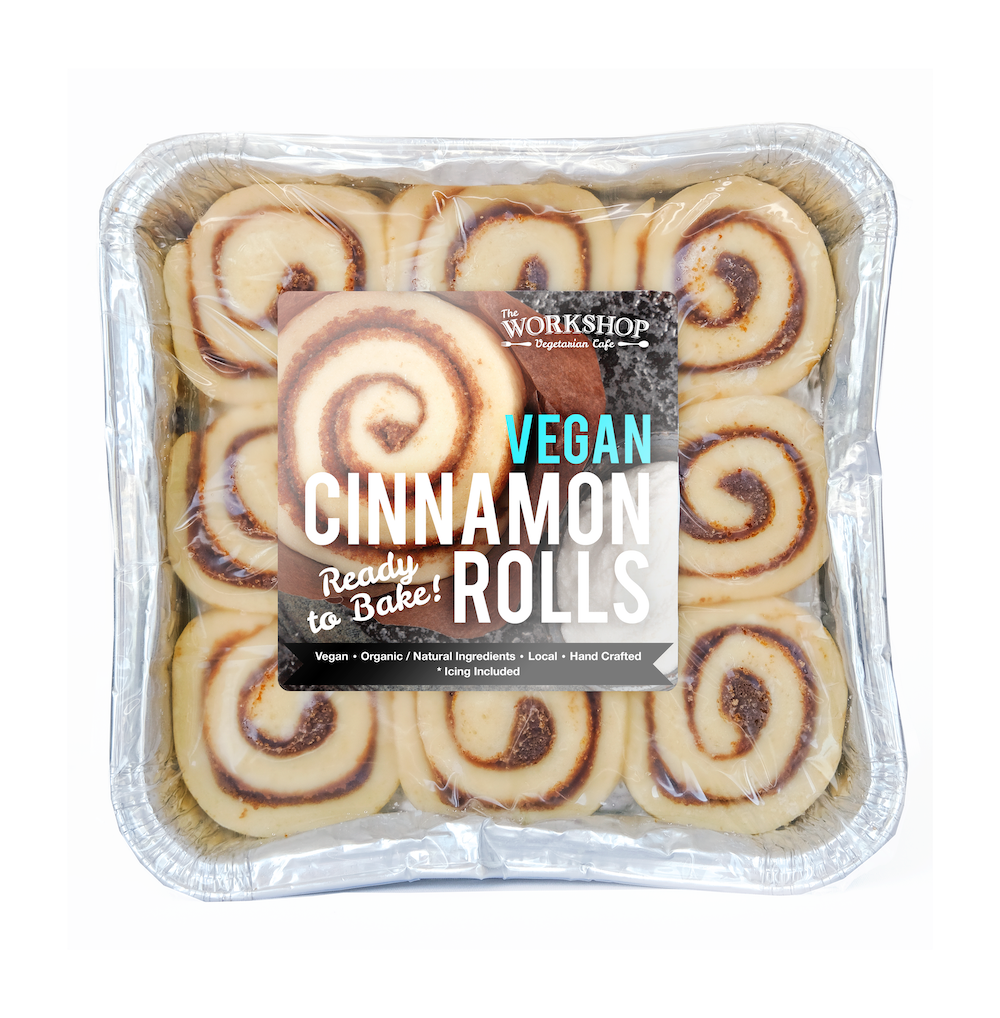 Frozen Vegan Cinnamon Rolls and Vegan Icing