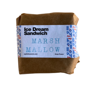 Marsh Mallow Ice Dream Sandwich - Say HELLO