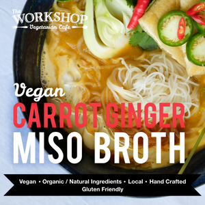 Frozen Vegan Carrot Ginger Miso Broth