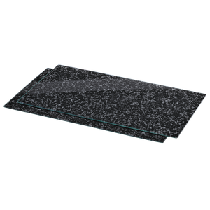 "XAVAX 111020 Hob cover plate, pack of 2, ""Granite"" design, 52 cm x 30 cm"