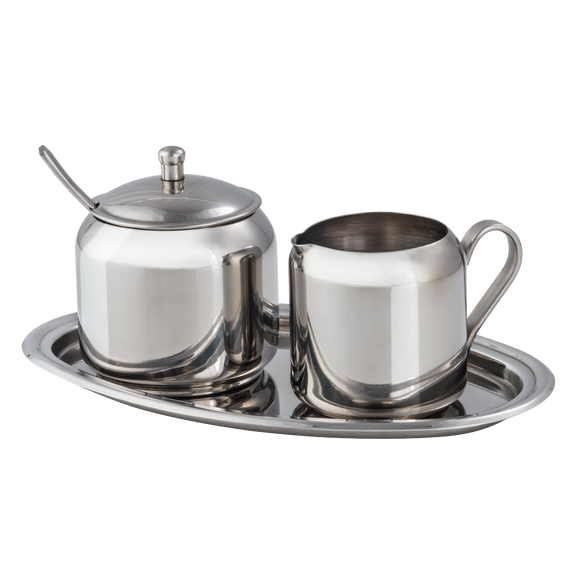 XAVAX 111217 Milk and Sugar Set, made of stainless steel, 3 parts