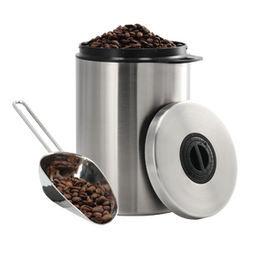 XAVAX 111250 Stainless Steel Tin for 1 kg of Coffee Beans, with Scoop