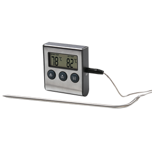 XAVAX 111381  Digital Meat Thermometer with Timer, Cable Sensor