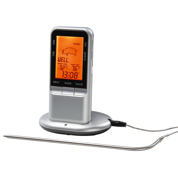 XAVAX 111382 Digital Meat Thermometer with Timer, wireless sensor
