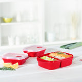 XAVAX 111463 Microwave 3 Box Set, 3 Part, red