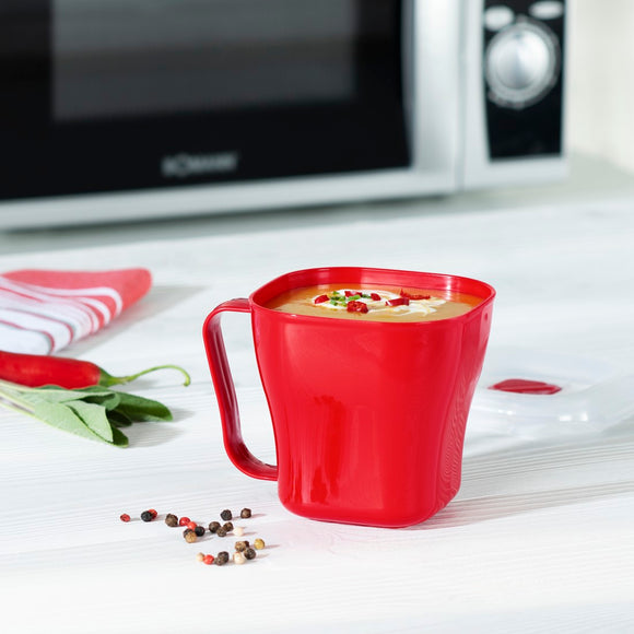 XAVAX 111466 Microwave Cup, 0.6 l, red