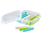 XAVAX 111469 Closure Clips Set with Handy Storage Box, Colourful, 30 Pcs.