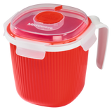 XAVAX 111487 Microwave Cup, 0.7 l, red