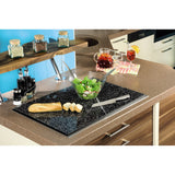 "XAVAX 111515 Hob cover plate, pack of 2, ""Granite"" design, 52 cm x 38.5 cm"