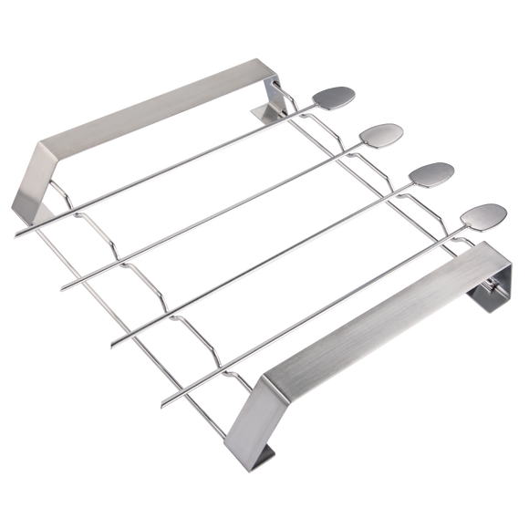 XAVAX 111585 Barbecue Skewer Set, made of stainless steel, with rack, 5 pieces
