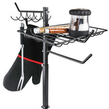 XAVAX 111591 Grill Organizer, height-adjustable 60 - 72 cm, black
