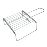 XAVAX 111594 Grill Grid with Feet, 23 x 23 cm, extendable up to 40 cm
