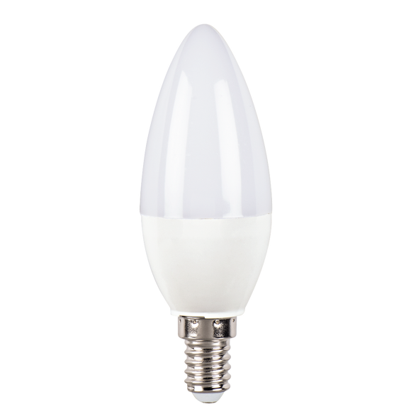 XAVAX 112504LED Bulb, E14, 520lm replaces 40W Candle Bulb, daylight