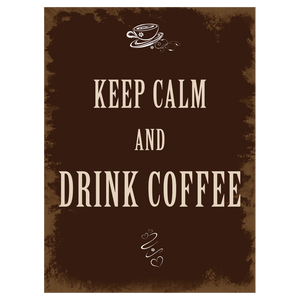 "XAVAX 136309 ""DRINK COFFEE"" HOME DECORTION 26X35CM"